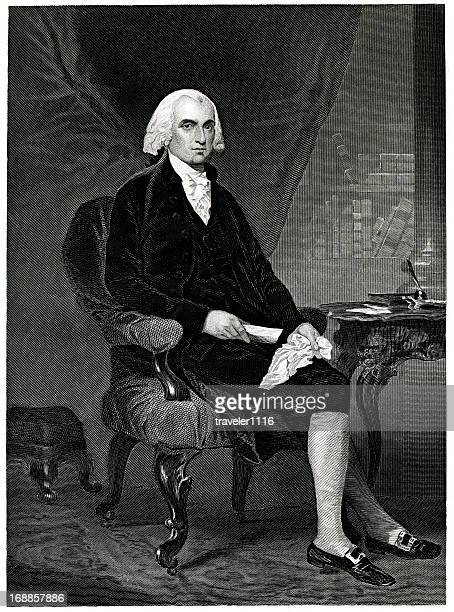 james madison - president stock illustrations, clip art, cartoons, & icons