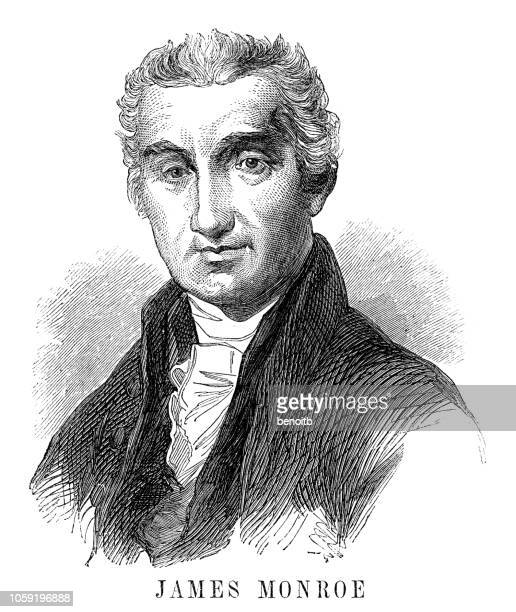 james monroe - president stock illustrations, clip art, cartoons, & icons
