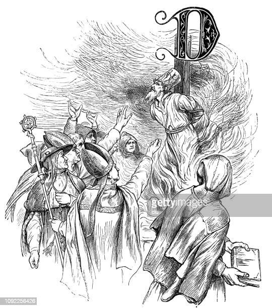 Jan Hus is burned at the stake
