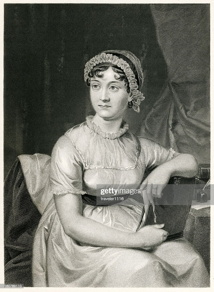 Jane Austen : stock illustration