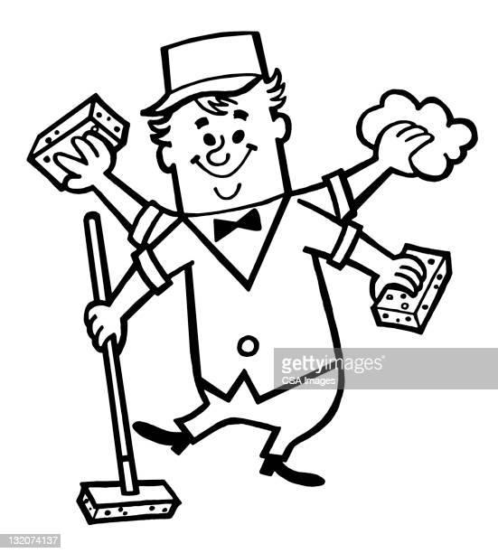 Janitor con mayor limpieza de manos