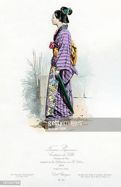 Janpanese Woman in Traditional Costume
