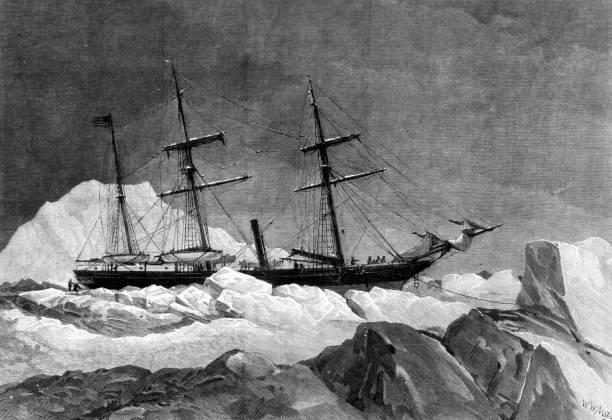 The 'Jeanette', a vessel belonging to James Gordon...