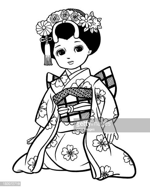 Japanese Girl Dressed as Geisha