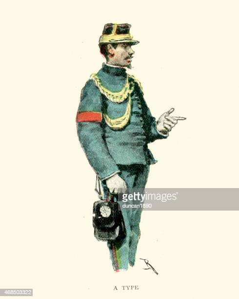 japanese soldier, 1891 - only japanese stock illustrations, clip art, cartoons, & icons