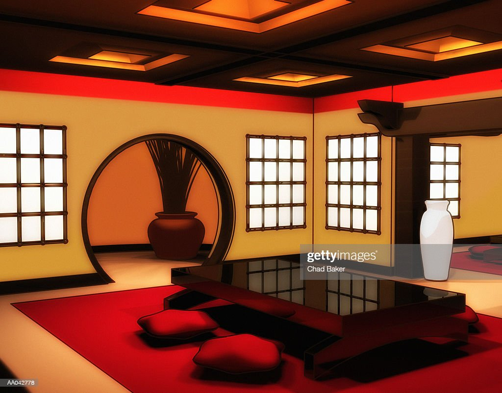 Japanese Style Dining Room High Res Vector Graphic Getty Images