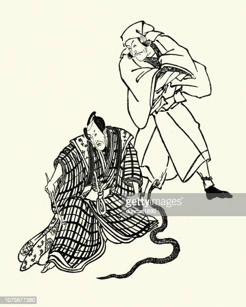 Japanese theatre, Actos with a snake