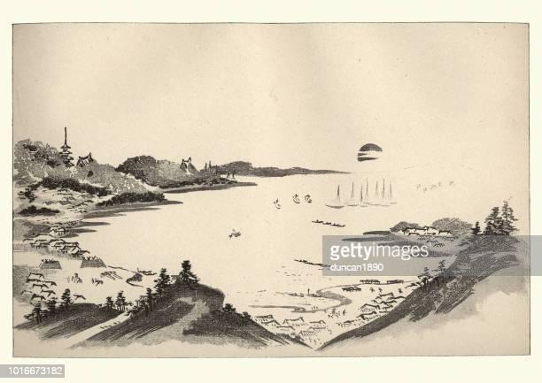 Japanesse Art, Landscape by Massayoshi, 19th Century