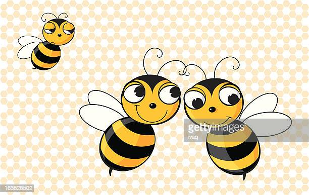 jealous bee - the grass is always greener stock illustrations, clip art, cartoons, & icons