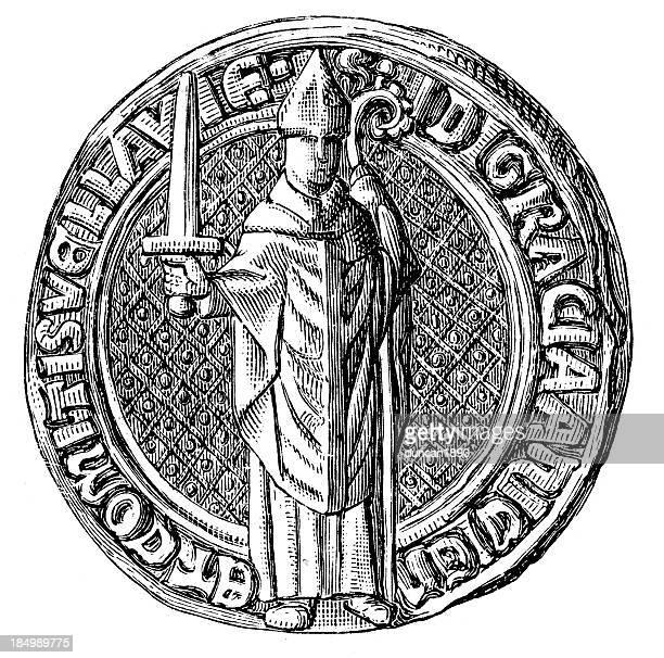 ilustrações, clipart, desenhos animados e ícones de jean bishop do le puy - bishop clergy
