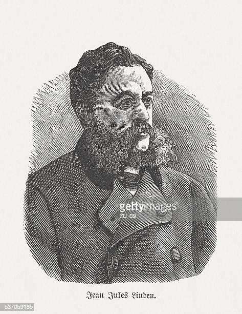 jean jules linden (1817-1898), luxembourg and belgian botanist, published 1882 - landscape gardener stock illustrations, clip art, cartoons, & icons