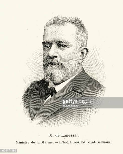 jean marie antoine de lanessan, 1899 - governmental occupation stock illustrations, clip art, cartoons, & icons