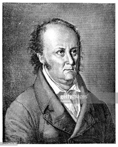 jean paul (1763-1825), deutscher schriftsteller - nordeuropäischer abstammung stock-grafiken, -clipart, -cartoons und -symbole