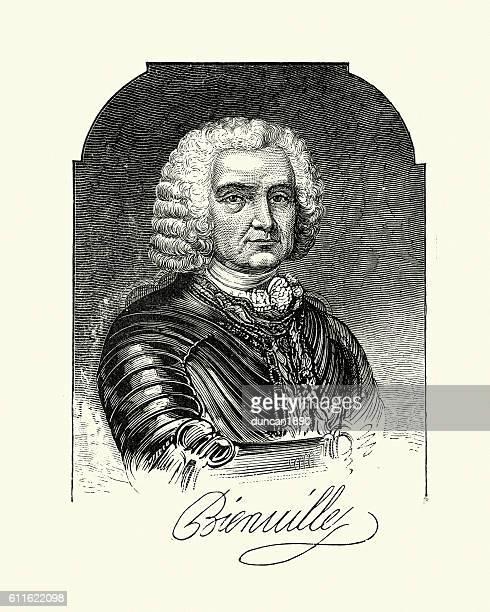 jean-baptiste le moyne, sieur de bienville - governor stock illustrations, clip art, cartoons, & icons
