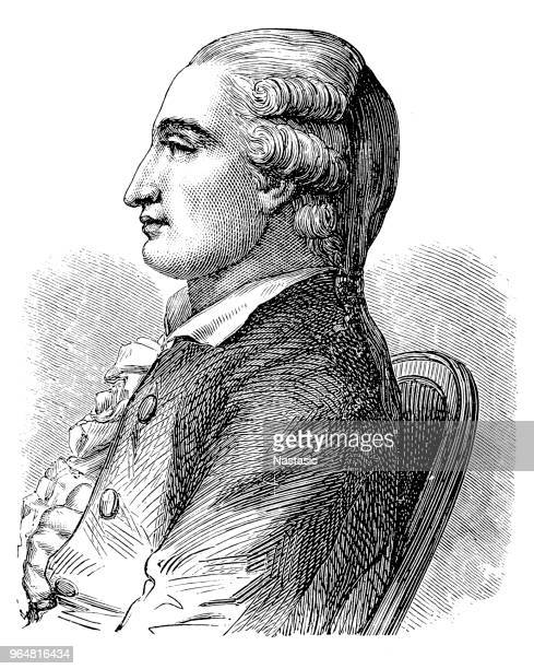 jean-françois pilâtre de rozier (30 march 1754 – 15 june 1785) - physicist stock illustrations, clip art, cartoons, & icons