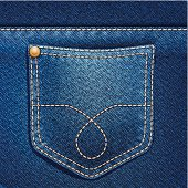 Jeans pocket. Denim background.