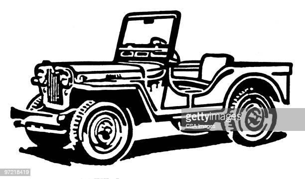 jeep - military stock illustrations
