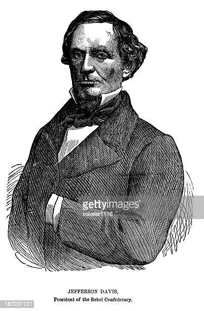jefferson davis - former stock illustrations, clip art, cartoons, & icons