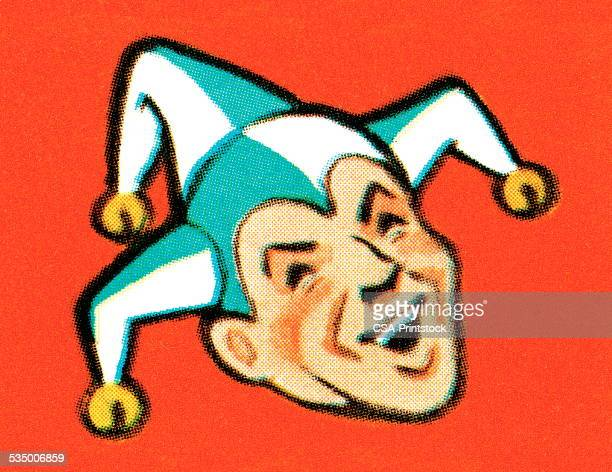 jester - jester stock illustrations, clip art, cartoons, & icons