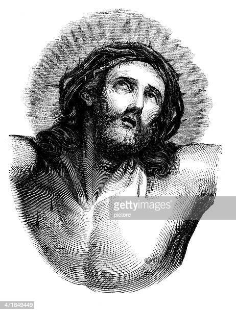 jesus christ crucified - the crucifixion stock illustrations, clip art, cartoons, & icons
