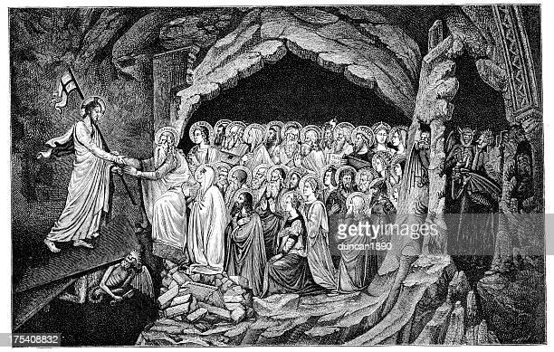 イエス・キリストに監獄顔ぶれ - 煉獄点のイラスト素材/クリップアート素材/マンガ素材/アイコン素材
