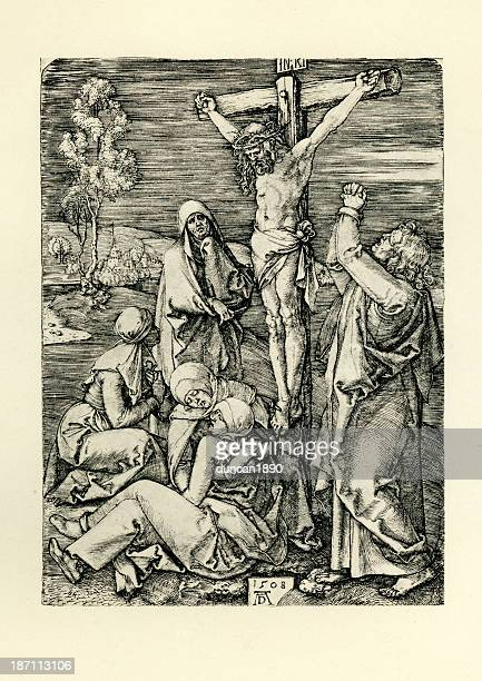 jesus christ on the cross - the crucifixion stock illustrations, clip art, cartoons, & icons