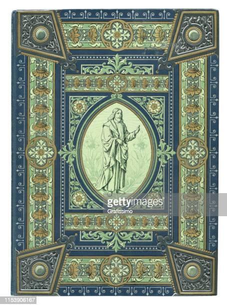 ilustrações de stock, clip art, desenhos animados e ícones de jesus christ portrait in ornamental frame - jerusalem antiga