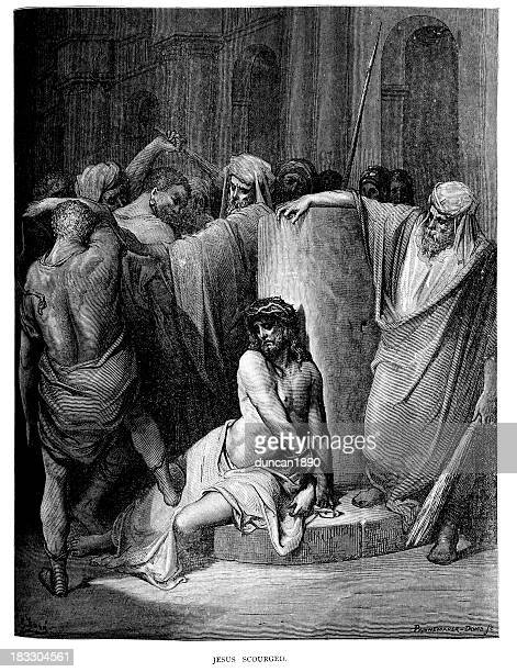 jesus christ scourged - whipped food stock illustrations, clip art, cartoons, & icons
