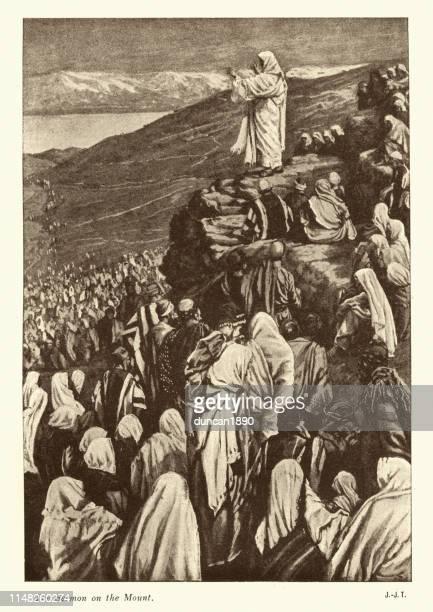 山上の説教を贈るイエス - 説教師点のイラスト素材/クリップアート素材/マンガ素材/アイコン素材