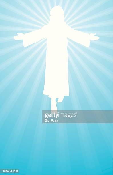 jesus is risen - jesus stock illustrations, clip art, cartoons, & icons