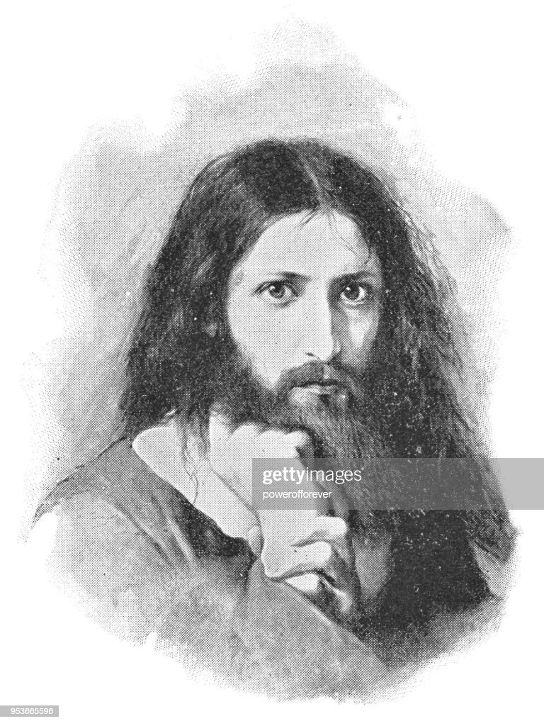 Jesus wird vom Satan versucht by Georg Cornicelius - 19th Century : Stock Illustration