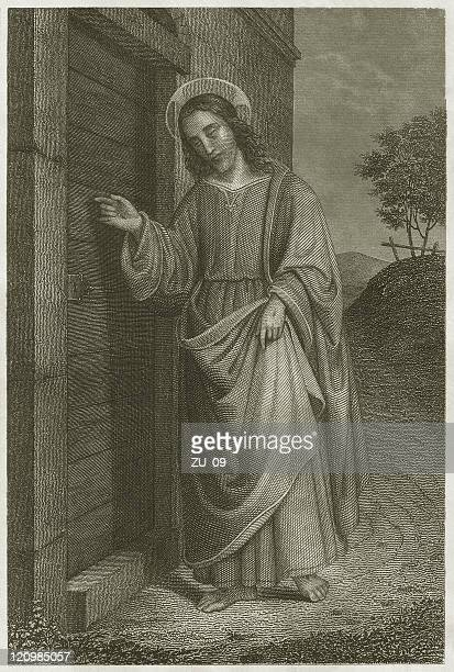 Knocking on door stock illustrations and cartoons getty images jesus knocking on the door steel engraving published c 1840 altavistaventures Gallery