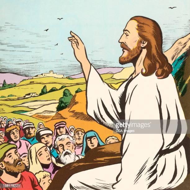 Jesus Preaching to People