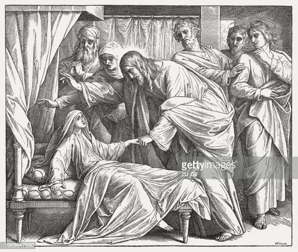 Jesus Raises a Dead Girl (Matthew 9, 18-27), published 1890
