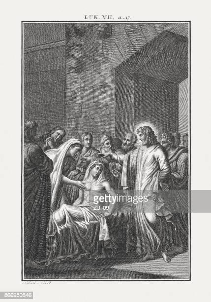 イエスは、ナイン (ルカ 7) で未亡人の息子を発生させます