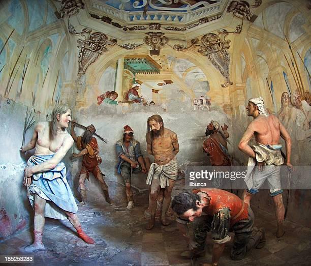 ilustraciones, imágenes clip art, dibujos animados e iconos de stock de jesús torturadas - látigo