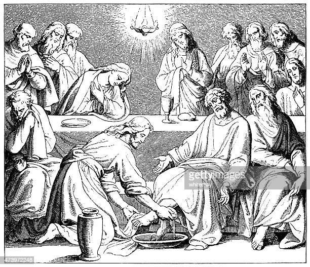 Jesus washing the Disciples' feet (Victorian engraving)