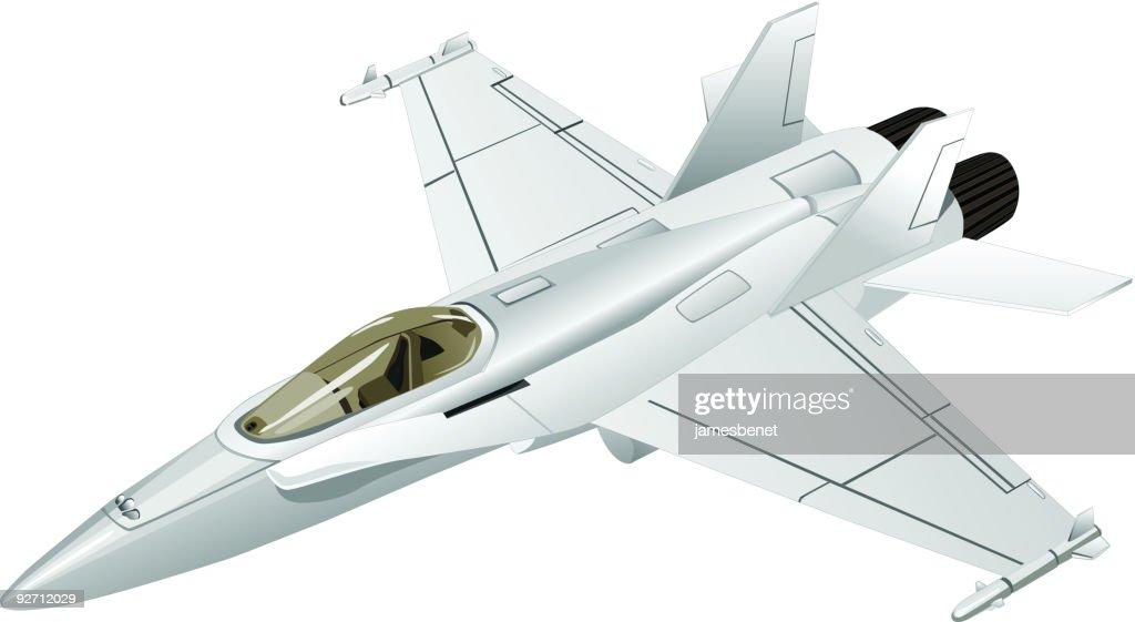 Jet Fighter (Vector) : Stock Illustration