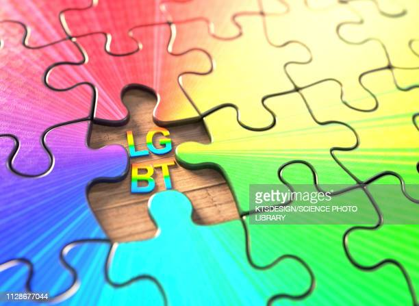 LGBT jigsaw puzzle, illustration