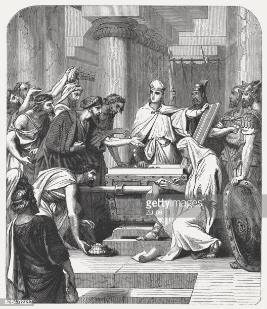 Joash collect money for the Temple (2 Chronicles 24, 10)