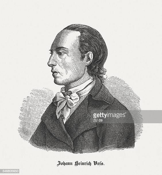 Johann Heinrich Voß (1751-1826), German poet, wood engraving, published 1848