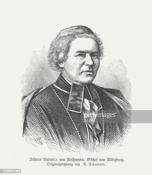 Johann Valentin von Reißmann (1807-1875), German theologian, woodcut, published 1876