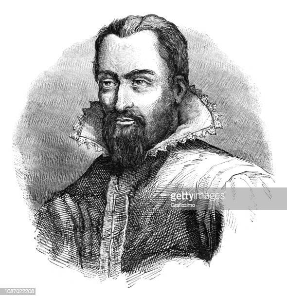 johannes kepler german mathematician astronomer and astrologer - johannes kepler stock illustrations