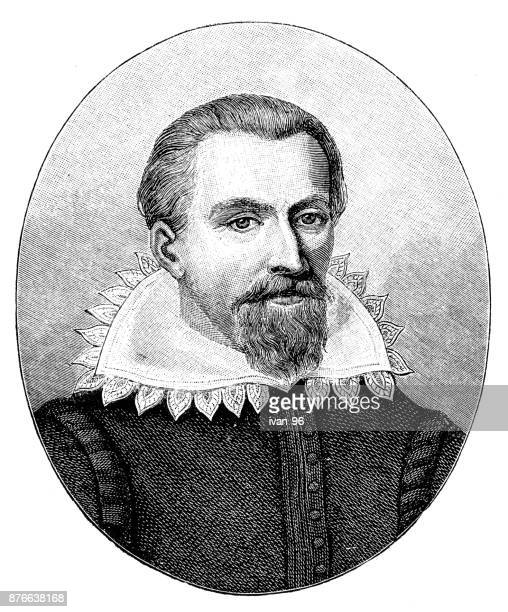 johannes kepler - johannes kepler stock illustrations