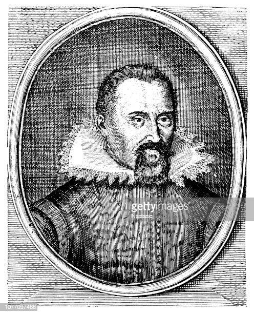 johannes kepler was a german mathematician, astronomer, and astrologer - physicist stock illustrations, clip art, cartoons, & icons