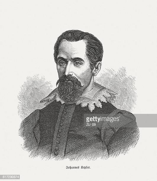 johannes kepler (1571 - 1630), wood engraving, published in 1880 - johannes kepler stock illustrations