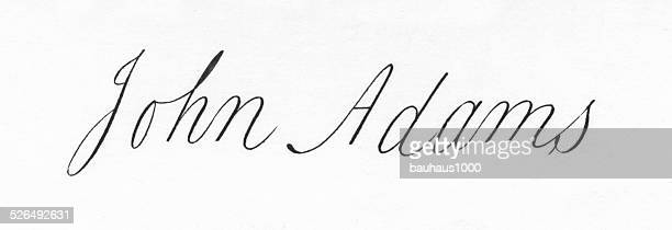 john adams signature - president stock illustrations, clip art, cartoons, & icons