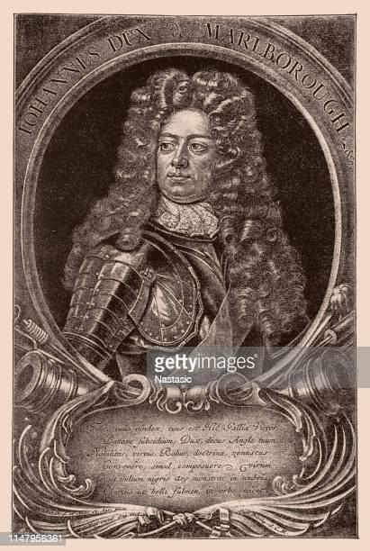 stockillustraties, clipart, cartoons en iconen met john churchill, 1e hertog van marlborough - duke