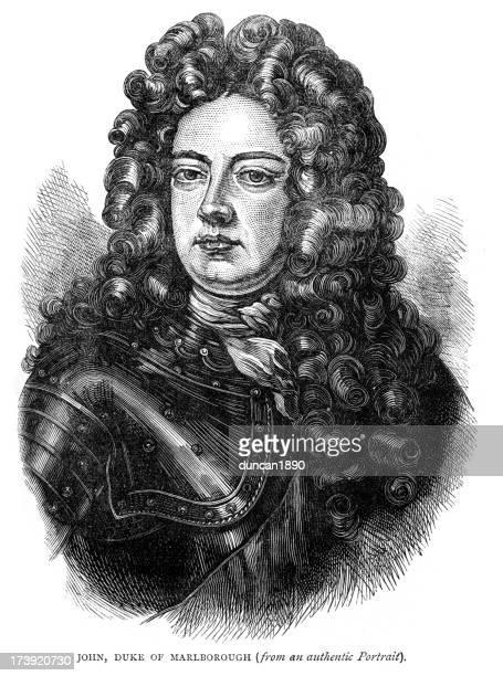 bildbanksillustrationer, clip art samt tecknat material och ikoner med john churchill 1st duke of marlborough - duke