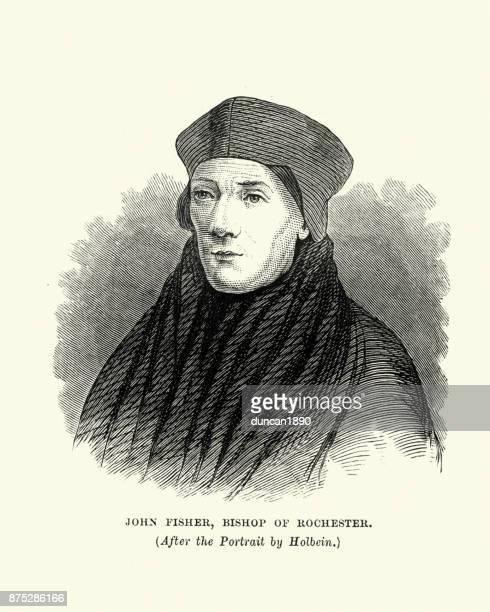 ilustrações, clipart, desenhos animados e ícones de john fisher, bispo de rochester - bishop clergy